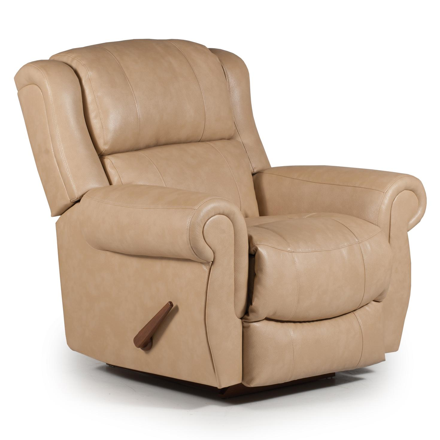 Best Home Furnishings Recliners - Medium Terrill Space Saver Recliner - Item Number: 8N74BL