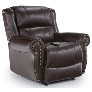 Best Home Furnishings Medium Recliners Terrill Power Space Saver Recliner