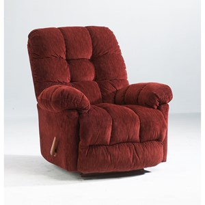 Best Home Furnishings Recliners - Medium Brosmer Rocker Recliner w/ Massage & Heat