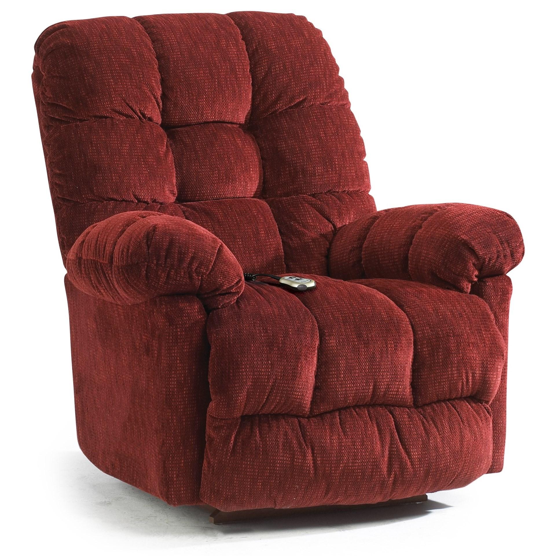 Best Home Furnishings Recliners - Medium Power Rocker Recliner w/ Pwr Headrest  - Item Number: 9MZ87-1