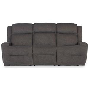 Space Saver Reclining Sofa w/ Drop Down Tray