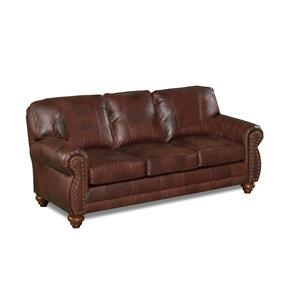 Best Home Furnishings Noble Chestnut Leather Sofa