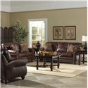 Best Home Furnishings Noble Traditional Leather Loveseat with Nailhead Trim - L64 - Shown with Chair and Sofa
