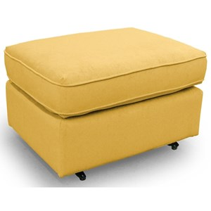Rounded Casual Ottoman