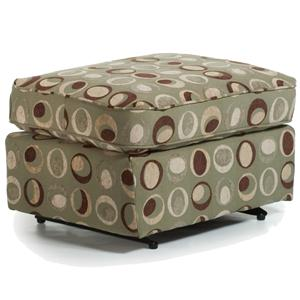Morris Home Furnishings Ottomans Rounded Casual Ottoman
