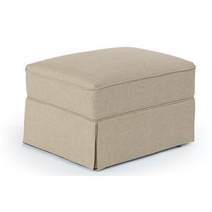 Morris Home Furnishings Ottomans Skirted Glide Ottoman