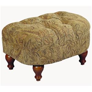 Morris Home Furnishings Ottomans Plush Cushioned Ottoman