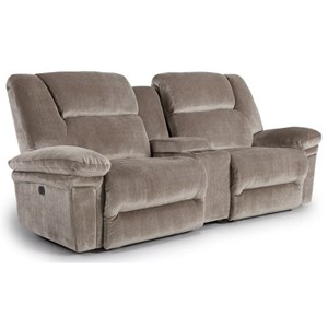 Best Home Furnishings Parker Space Saver Reclining Sofa w/ Console
