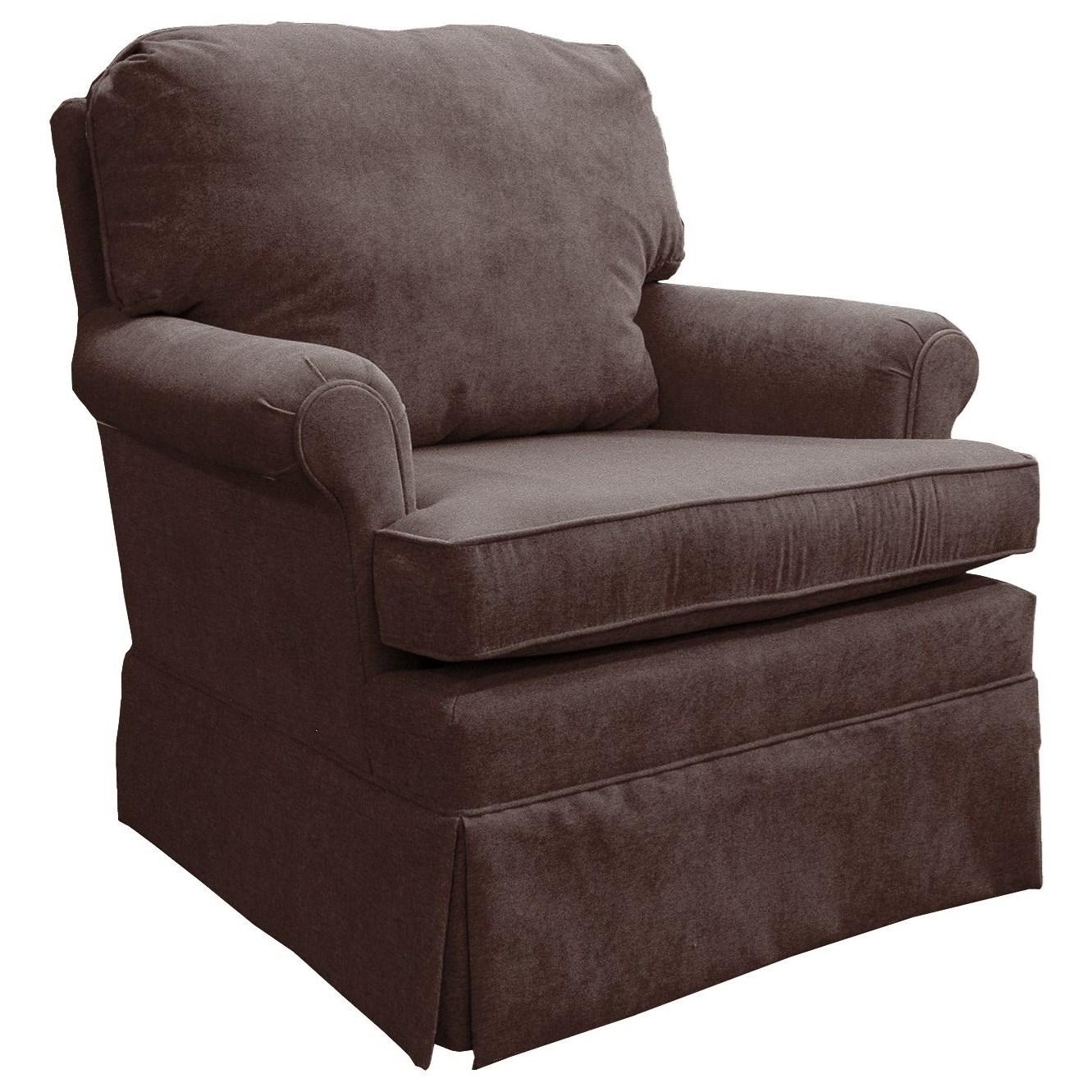 Best Home Furnishings Patoka Swivel Glider Club Chair  - Item Number: 2617-23168C