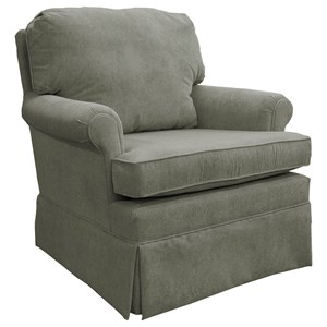 Best Home Furnishings Patoka Swivel Rocking Club Chair