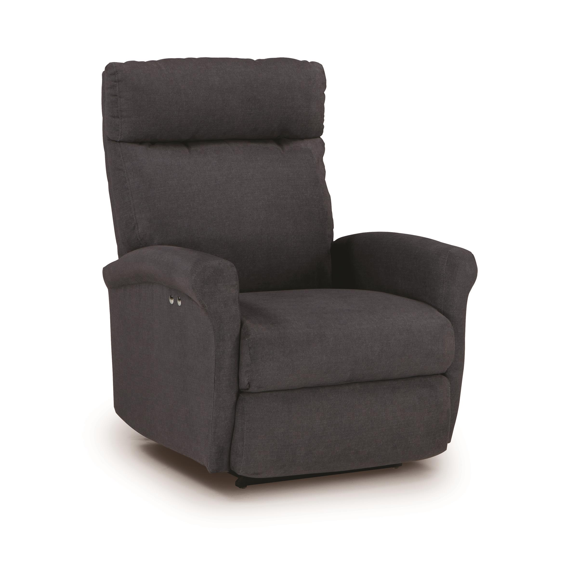 Best Home Furnishings Recliners - Petite Power Rocking Recliner - Item Number: 1NP07-21472