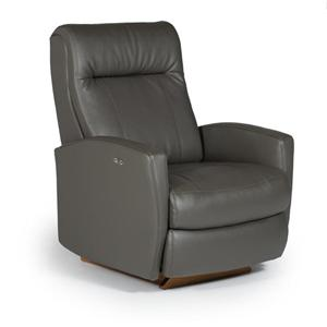 Best Home Furnishings Recliners - Petite Costilla Power Rocker Recliner