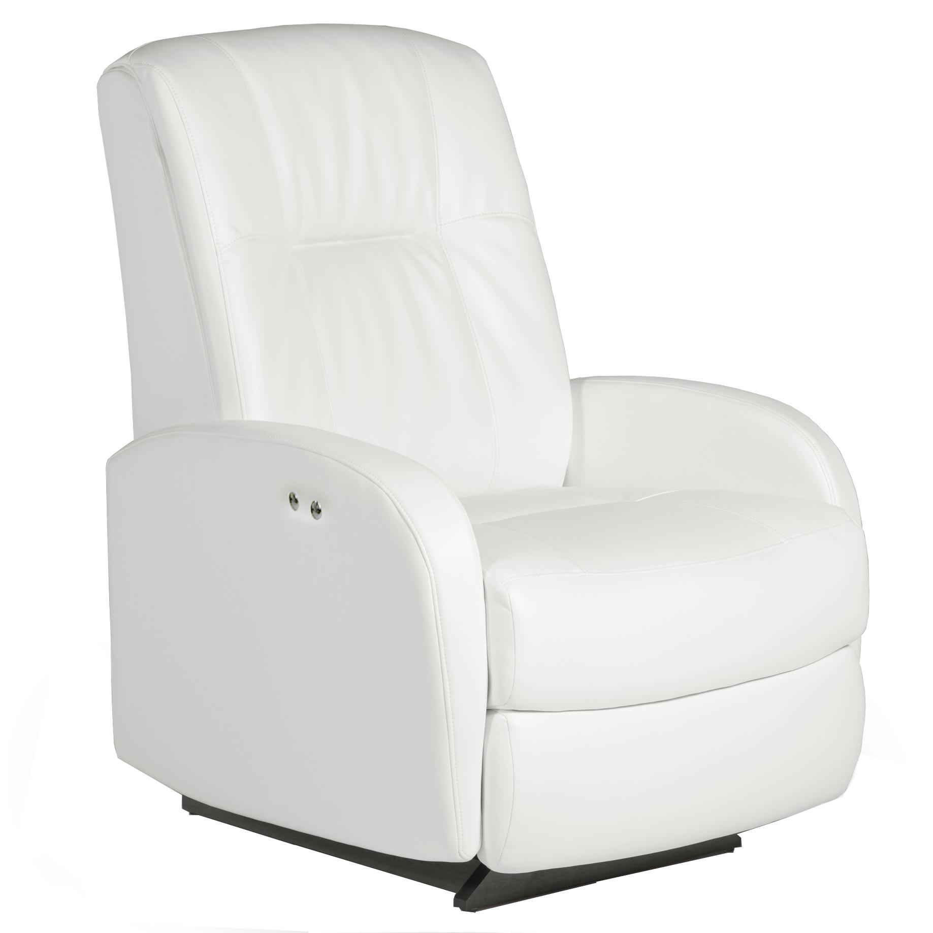 Best Home Furnishings Recliners - Petite Ruddick Power Rocker Recliner - Item Number: 2AP47BL