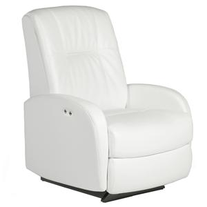 Best Home Furnishings Recliners - Petite Ruddick Swivel Rocker Recliner