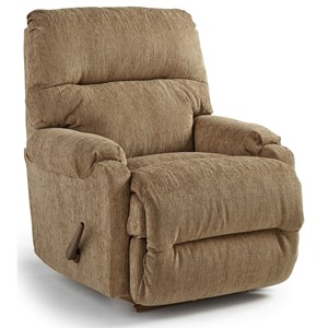 Best Home Furnishings Petite Recliners Cannes Swivel Rocker Recliner