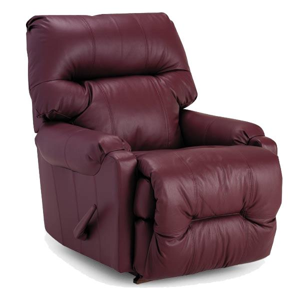 Best Home Furnishings Recliners - Petite Dewey Power Rocker Recliner - Item Number: 9AP17L