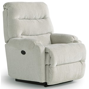 Best Home Furnishings Recliners - Petite Sedgefield Pwr Rock Recliner w/ Pwr Headrest