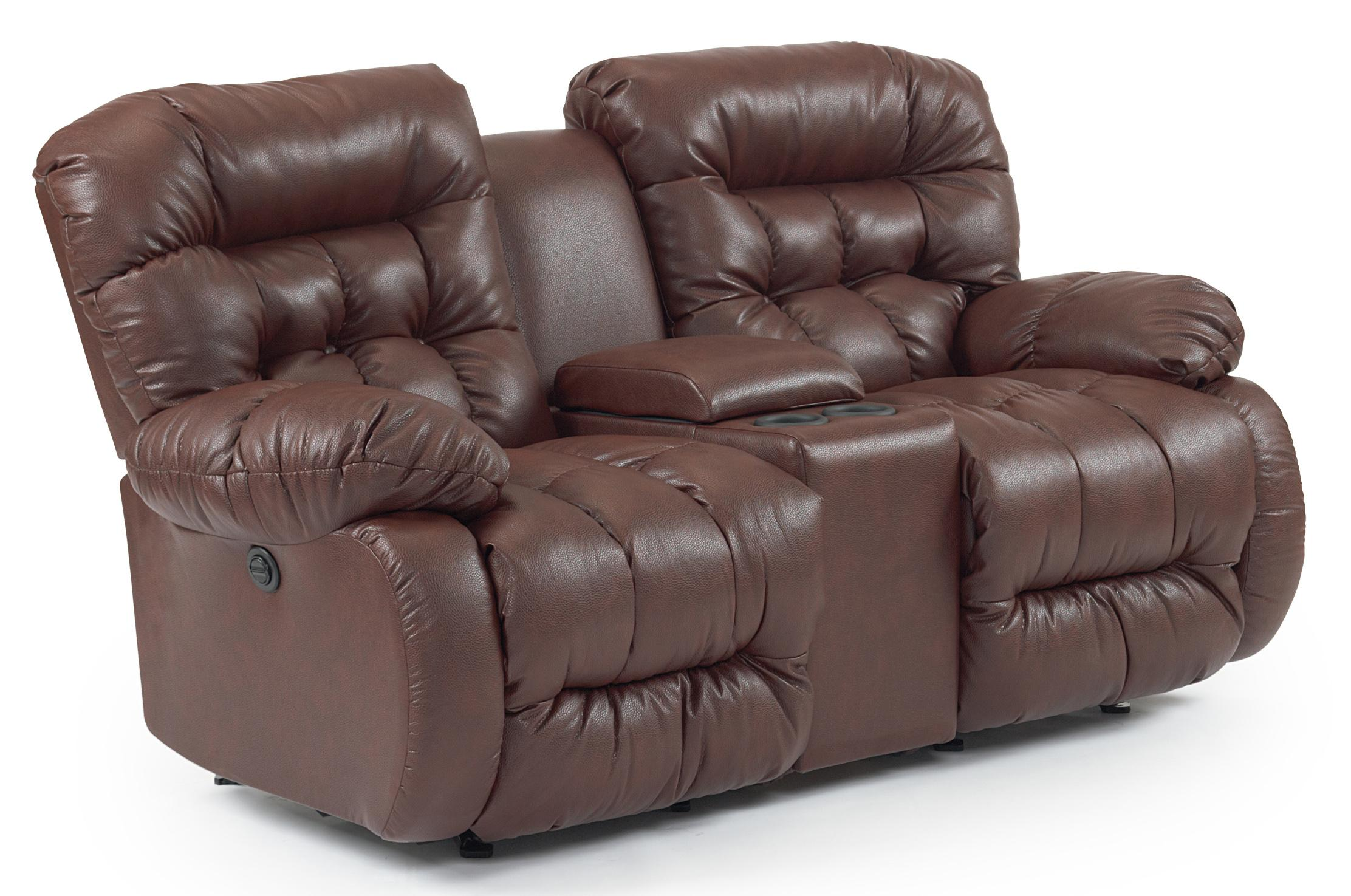 Best Home Furnishings Plusher Power Rocker Reclining Loveseat With Drink Console Wayside