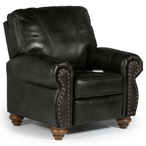 Best Home Furnishings Recliners - Pushback Fleck Hi Leg Recliner