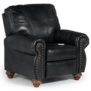 Best Home Furnishings Recliners - Pushback Fleck Hi Leg Recliner