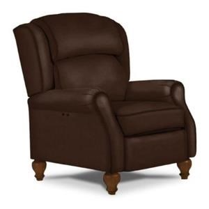 Best Home Furnishings Recliners - Pushback Patrick Brown Leather Pushback Recliner