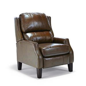Best Home Furnishings Recliners - Pushback Pauley1 Russett Leather Pushback Recliner