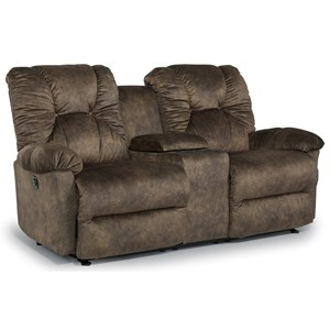 Best Home Furnishings Romulus Space Saver Reclining Loveseat with Console