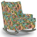 Best Home Furnishings Runner Rockers Paisley Rocking Chair - Item Number: 0165-28118