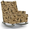 Best Home Furnishings Runner Rockers Paisley Rocking Chair - Item Number: 0165-31767