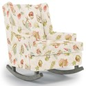 Best Home Furnishings Runner Rockers Paisley Rocking Chair - Item Number: 0165-33347