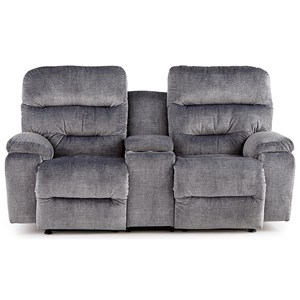 Power Space Saver Reclining Console Loveseat