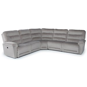 Best Home Furnishings Shelby 5 Pc Reclining Sectional Sofa
