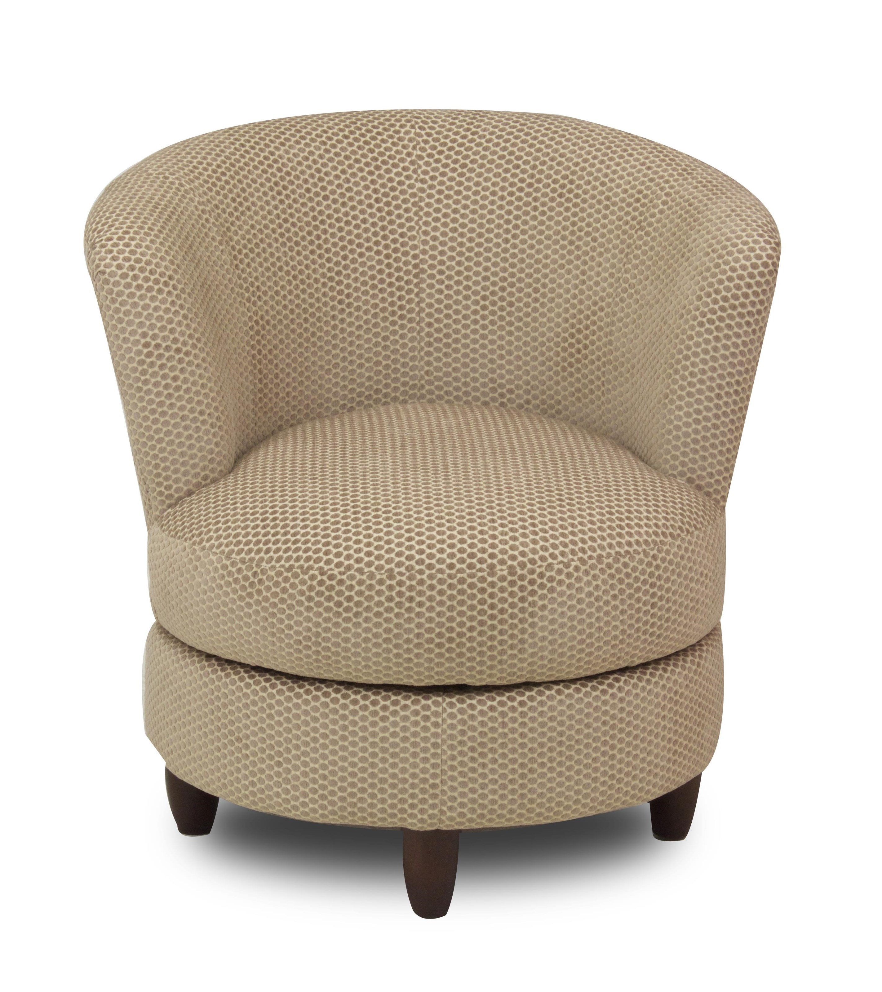 Chairs Swivel Barrel Palmona Swivel Barrel Chair With Wood Legs Ruby Gordon Home Upholstered Chairs