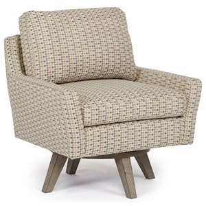 Morris Home Furnishings Chairs - Swivel Barrel Seymour Swivel Chair