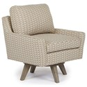 Best Home Furnishings Chairs - Swivel Barrel Seymour Mid Century Modern Chair with Swivel Base