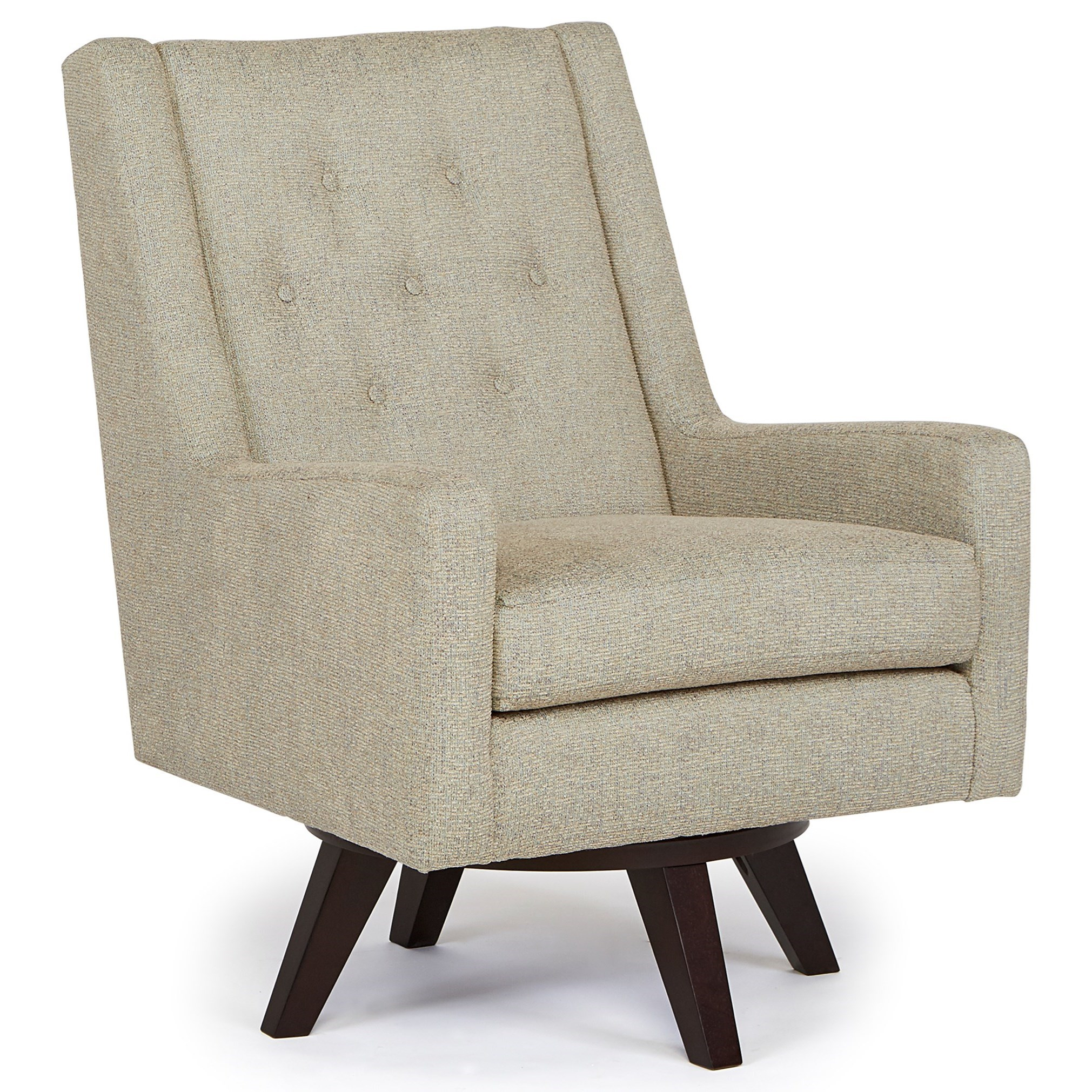 Image of: Best Home Furnishings Kale Mid Century Modern Swivel Chair Howell Furniture Upholstered Chairs