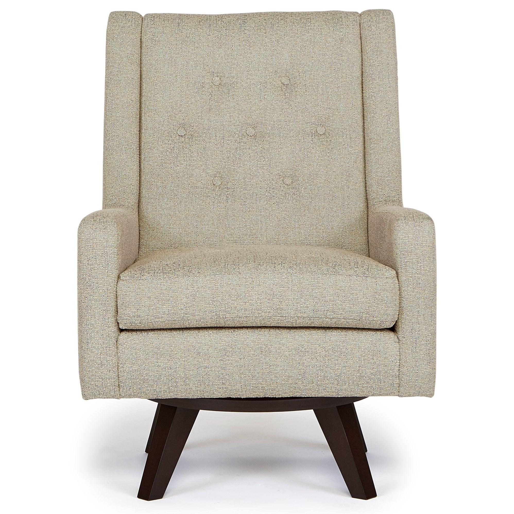 Best Home Furnishings Chairs Swivel Barrel 2518 Kale