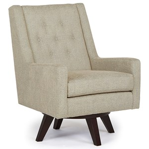 Morris Home Furnishings Chairs - Swivel Barrel Kale Swivel Chair