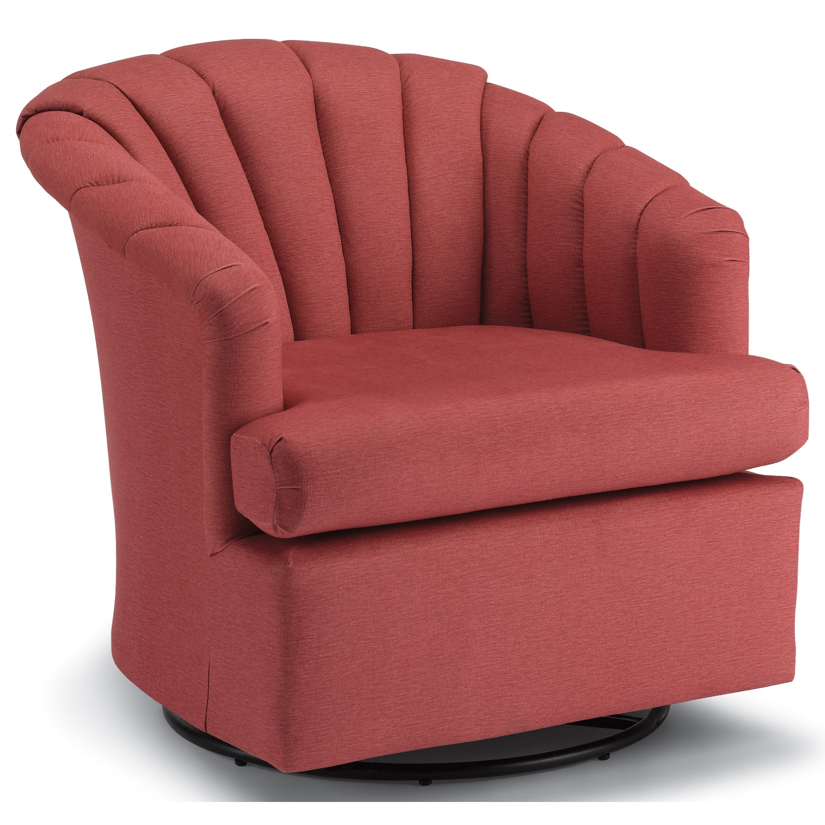Chairs - Swivel Barrel Elaine Swivel Glider Chair by Best Home Furnishings at Turk Furniture