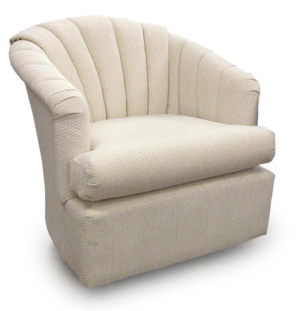Best home furnishings chairs swivel barrel elaine swivel - Best swivel chairs for living room ...