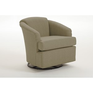 Morris Home Chairs - Swivel Barrel Cass Swivel Barrel Chair