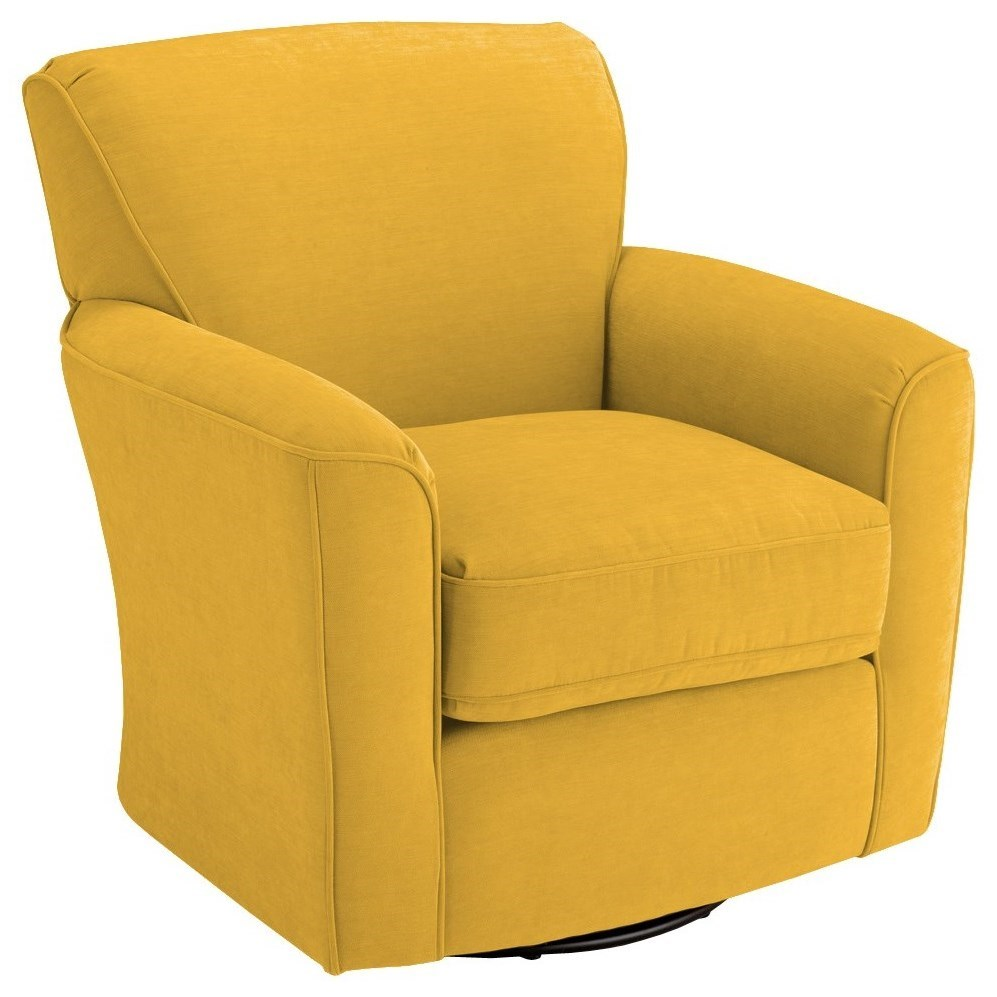 Best Home Furnishings Chairs - Swivel Barrel Kaylee Swivel Barrel Chair - Item Number: 2888-22175