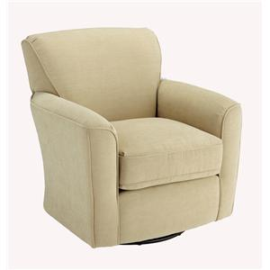 Morris Home Furnishings Chairs - Swivel Barrel Kaylee Swivel Barrel Chair