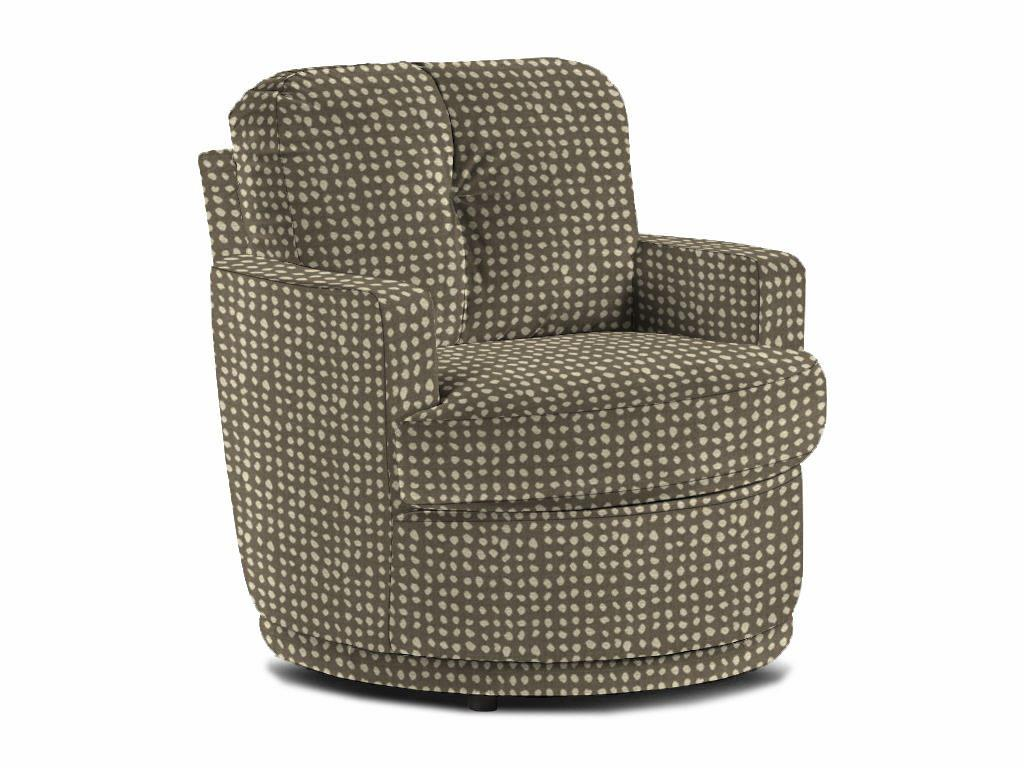 Pewter Swivel Barrel Chair