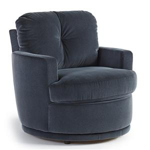 Morris Home Furnishings Chairs - Swivel Barrel Skipper Swivel Chair