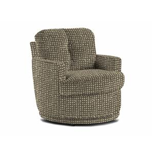 Pewter Swivel Barrel Chair