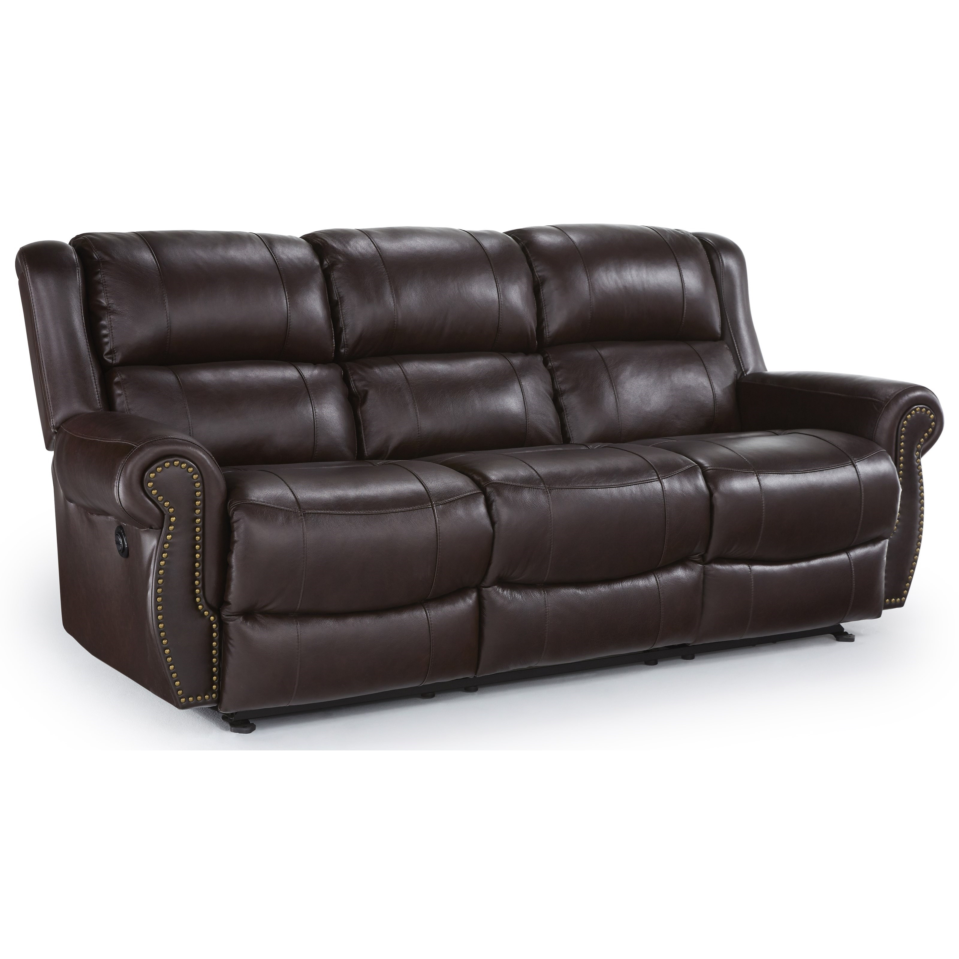 Terrill Transitional Power Space Saver Reclining Sofa by Best Home  Furnishings at Lindy\'s Furniture Company