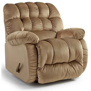 Best Home Furnishings Recliners - The Beast Roscoe Beast Power Rocker Recliner