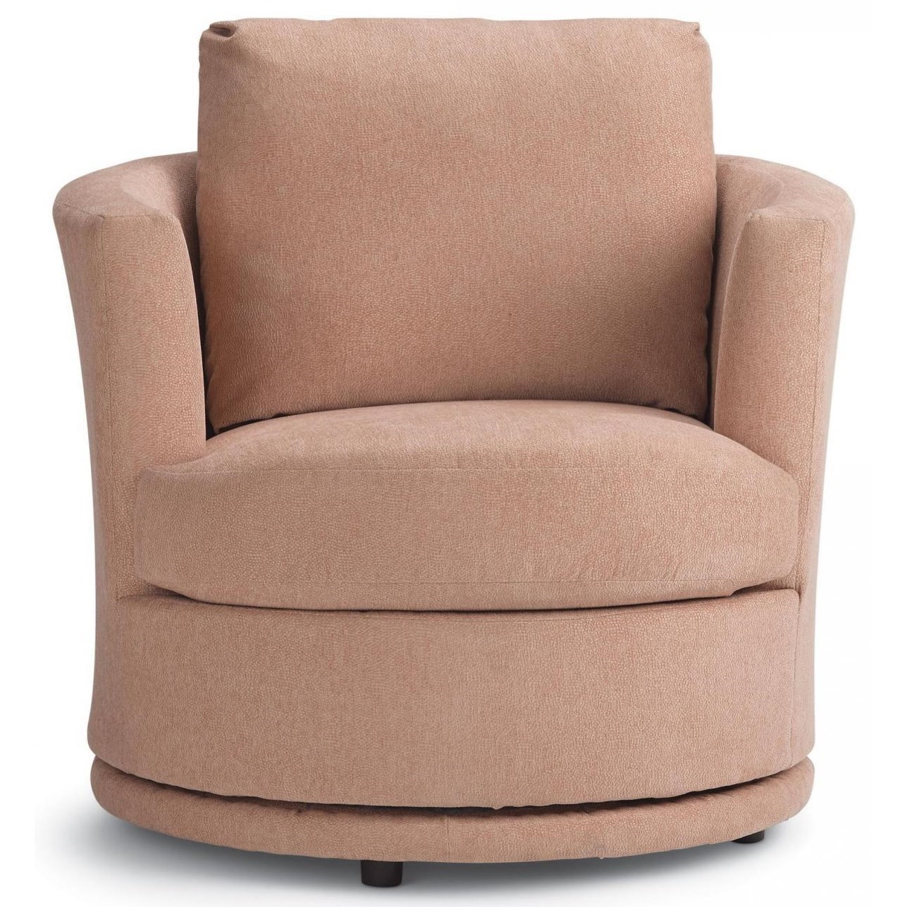 Picture of: Best Home Furnishings Tina Mid Century Modern Swivel Barrel Chair A1 Furniture Mattress Upholstered Chairs