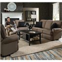 Best Home Furnishings Tryp Swivel Glider Recliner - Shown with coordinating sofa and loveseat